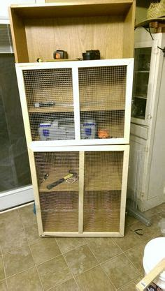 ferret cage    entertainment center diy ferrets