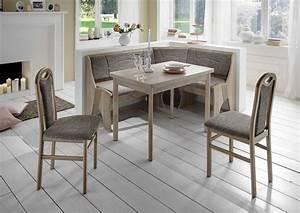 Coin Repas D Angle : coin repas avec banquette d 39 angle rosenheim gris beige sb meubles discount ~ Teatrodelosmanantiales.com Idées de Décoration