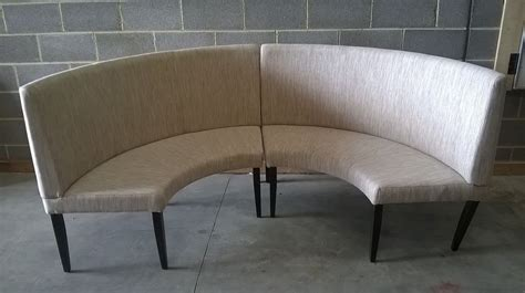 tufted settee curved banquette seating roselawnlutheran