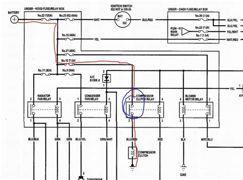 Ac Wiring Diagram For A 2004 Pontiac Vibe by How To Manually Jump Compressor Clutch Acurazine Acura