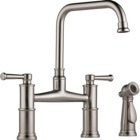 kitchen faucet bridge brizo 62525lf ss artesso brilliance stainless two handle