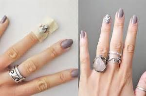 Zigzag nail art designs by using scotch tape