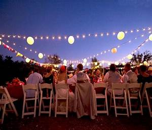 Outdoor wedding party lighting ideas sang maestro for Outdoor wedding reception lighting