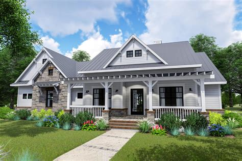 Modern Farmhouse With Sideload Garage And Optional Bonus