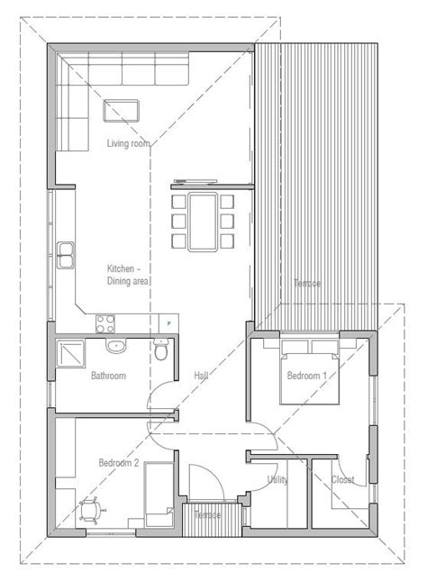 33 best images about Two Bedroom House Plans on Pinterest