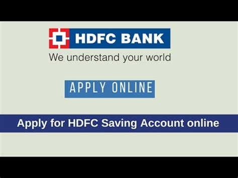 hdfc bank account opening form online open hdfc bank saving account online without visiting
