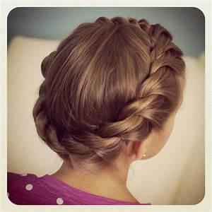 Crown Rope Twist Braid | Updo Hairstyles | Cute Girls ...