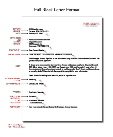 business letter format spacing world