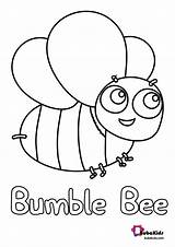 Bee Bumble Coloring Bubakids Bumblebee Printable sketch template