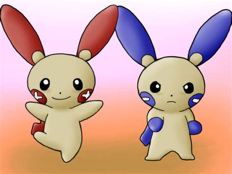 Plusle And Minun By Kenny21 On Deviantart