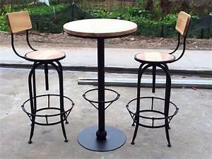 Table Bar Bois : table de bar fer forge et bois ~ Teatrodelosmanantiales.com Idées de Décoration