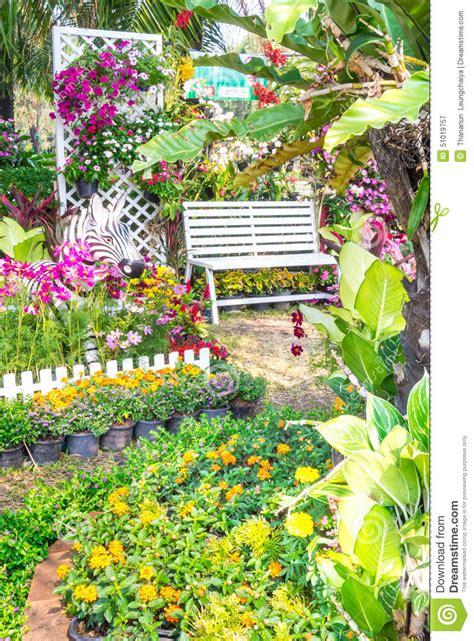 beautiful flower garden stock image image of