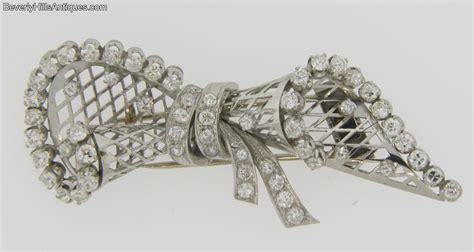 superb antique deco 58 diamonds platinum brooch for sale antiques classifieds