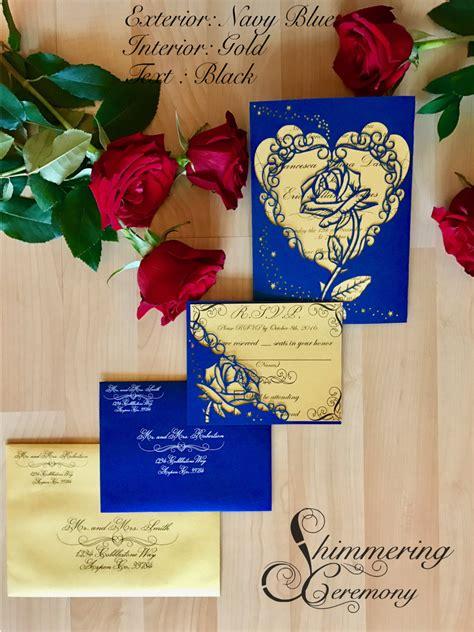 beauty   beast inspired rose gate invitation