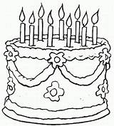 Birthday Coloring sketch template