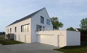 Doppelgarage Mit Satteldach : mehrfamilienhaus mit doppelgarage haus schindele von baufritz modernes fertighaus bauen mit ~ Whattoseeinmadrid.com Haus und Dekorationen