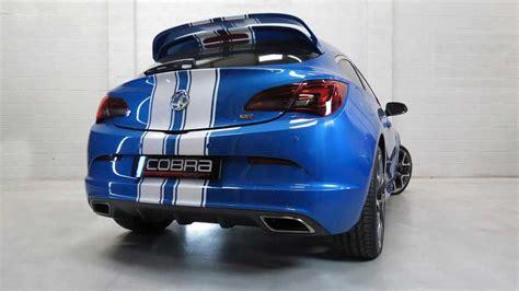 vauxhall astra  vxr performance exhaust  cobra sport