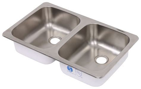 "25"" x 15"" Double Bowl Sink   Stainless Steel Patrick"