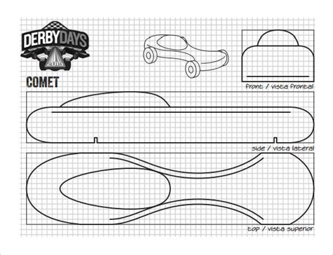 pinewood derby template 21 cool pinewood derby templates free sle exle format free premium templates