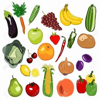 Fruit Vegetable Clipart Illustration Verdura Illustrations Vegetables