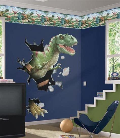 boys room  dinosaurs wall mural kids bedroom