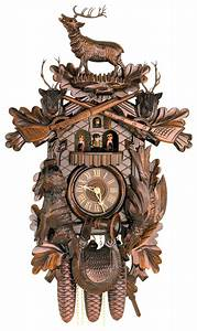 Cuckoo, Clock, 8-day-movement, Carved-style, 60cm, By, Hekas, 8, Ex
