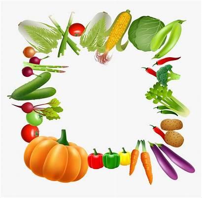 Clipart Border Fruits Vegetable Vegetables Clip Library