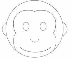 cake templates monkey cake design monkey cake pattern With monkey face template for cake