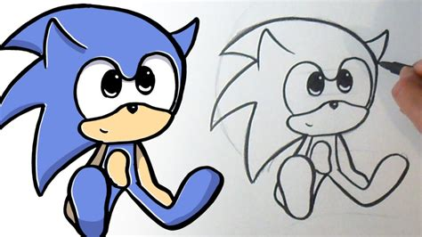 como dibujar  sonic kawaii youtube