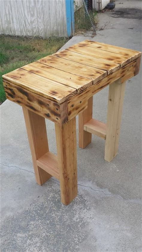diy scorched pallet  table pallet furniture plans