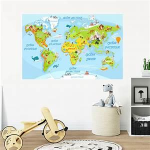 Carte Du Monde Sticker : sticker carte du monde ducatif pour les enfants stickers animaux animaux de la jungle ~ Dode.kayakingforconservation.com Idées de Décoration