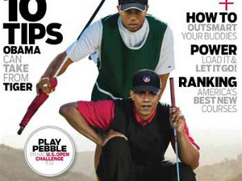 Barack Obama and Tiger Woods play first round of golf ...