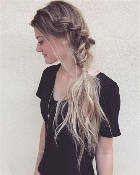 Side Braided Hairstyle easy updos for short hair to do