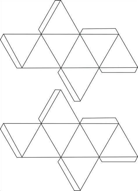 triangular prism net template surface area  prisms