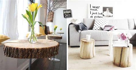 tronc arbre decoration interieur amazing tabouret rondin de bois etape with tronc arbre