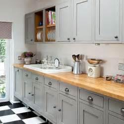 shaker style kitchen ideas grey shaker style kitchen with wooden worktop decorating housetohome co uk