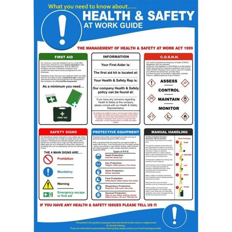health  safety poster mm  mm rainbow safety