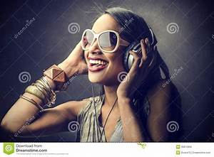Woman Listening To The Music Royalty Free Stock Image ...