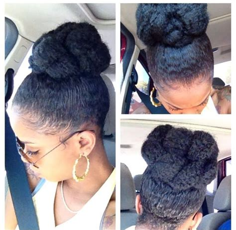 winter protective style high bun with marley braid