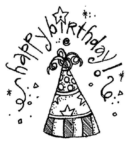 birthday hat clipart black and white birthdays melonheadzillustrating