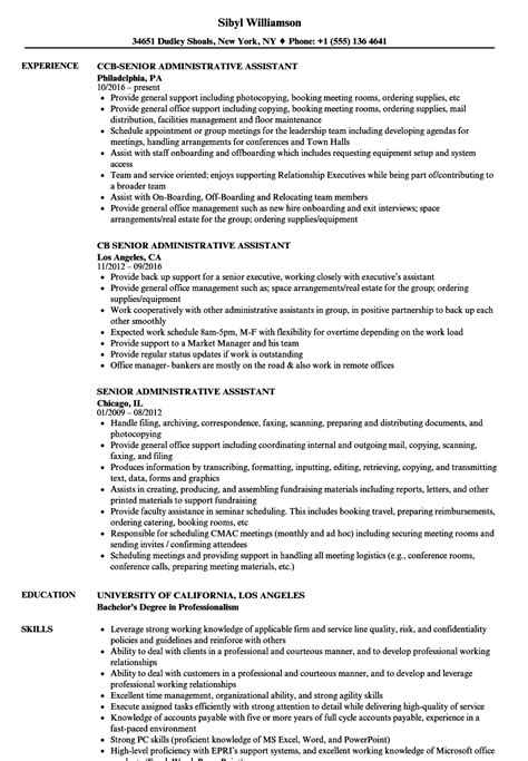 Senior Administrative Assistant Resume by 13 Cv Admin Assistant Sowtemplate