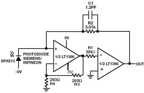 Current Feedback Amps Save Power Fast Photodiode