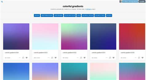 showcase  websites  creative background gradients