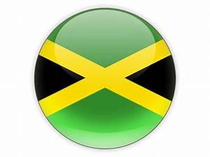 Round icon. Illustration of flag of Jamaica