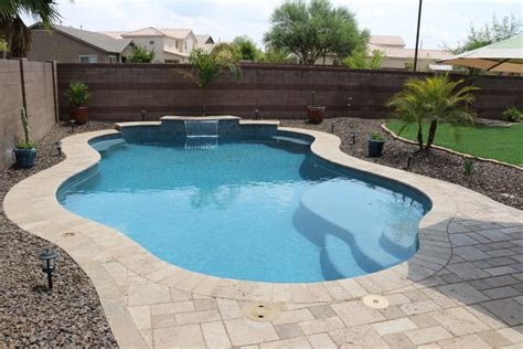 backyard pool simple backyards presidential pools spas patio of arizona