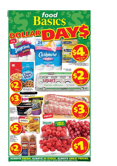 food basics canada flyers friday august 8 to thursday august 14 2014 food basics flyer