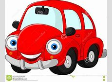 Cartoon funny red car stock vector Illustration of smile