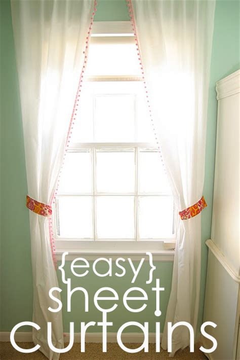 cheap  easy curtains homemade ginger