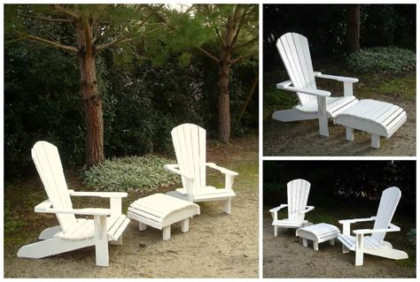 fauteuils adirondack blancs en palettes recyclees white