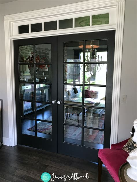 Diy Painted Black French Doors By Jennifer Allwood